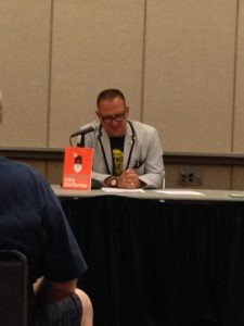 Cory Doctorow doing a reading from his upcoming book - can't wait for the release!
